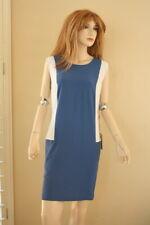 Stella McCartney Blue and white silk shift dress 44 NWT $1245