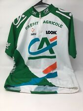 Credit Agricole Team Cycling Jersey, Size US M/EU 4, Pre-Owned, Good Condition