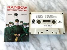 Rainbow Difficult To Cure CASSETTE Tape Orig.1981 Ritchie Blackmore's Rainbow EX
