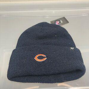Chicago Bears 47 Brand Women's Winter Hat. New NWT Blue Beanie Cap. NFL Football