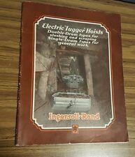 """Ingersoll-Rand Electric """"Tugger"""" Hoists pamphlet vintage cool"""