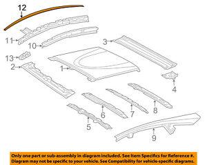 TOYOTA OEM 12-16 Prius V-Roof Molding Trim Left 7555647060