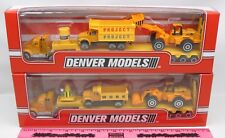 Menards ~ Denver Models ~ TWO ~ Construction tractor and trailer w/ 2 vehicle