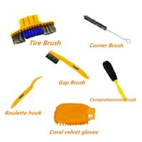 Bike Chain Cleaning Brush Scrubber Motorcycle Bicycle Gear Cleaner Tools Kit US