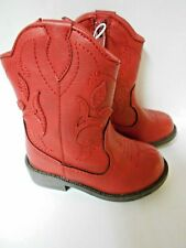 Dingo DIC2395 Childrens Red BOOTS With Cactus /& Moon Inlays Side Zip DIC 2395