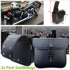 2 Pcs Mini Motorcycle PU Leather Saddle Bags Side Storage Tool Pouch Waterproof
