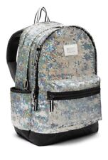 VICTORIA'S SECRET PINK IRIDESCENT SILVER SEQUIN BLING CAMPUS BACKPACK BOOKBAG