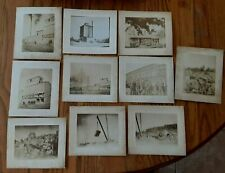 Lot of 10 Vintage 1900 Antique Old Real Photographs Stone Quarry in Wisconsin