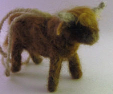 Scottish Highland Cow Felted Wool Ornament