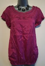 Size 14 Top RIVER ISLAND Pink/Purple Tunic Great Condition Women's Casual