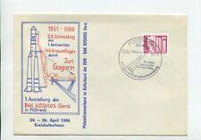 DDR Brief EF Mi 2485 Pössneck 24.4.86 Juri Gagarin Weltraum Kosmos