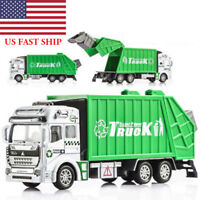 1:32 Trash Garbage Truck Alloy Truck Kids Travel Saloon Xmas Gift Car Play Toy