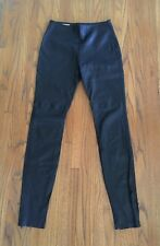 Maison Martin Margiela Line 4 black leather legging pants 42 US 4 6 Orig 2300