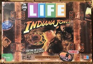 Factory-Sealed 2008 INDIANA JONES Game of LIFE Collectible Ed. Family Board Game