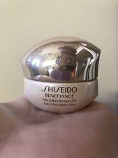 """Shiseido Benefiance """"WrinkleResist24 Intensive Eye Contour Cream"""" 0.5oz/15ml.new"""