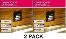 2 PACK Low Voltage Deck Light 7W Black Weather Resistant Hampton Bay NEW