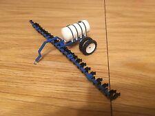 1/64 Blue Scratch Built 25 Shank Side Dresser Custom Farm Toy