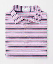 Peter Millar Summer Comfort Agora Stripe Performance Golf Polo Mens Size L NWT