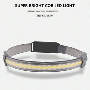3 Modes USB Rechargeable COB LED Headlamp Headlight Lightweight Head Torch SR