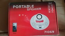 Brand New: Portable Speaker White. For Ipod, Mobile, Computers, Cd Player, Ect