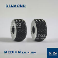 "Set of 2Pcs Diamond Medium Pitches High Quality Knurls (3/4"" x 3/8"" x 1/4"") Atoz"