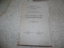1924.Histoire du mot Sacramentum.T1 : Les Anténicéens.Ghellinck