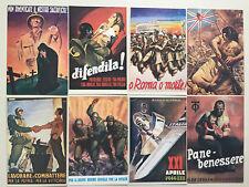 Lot  8  Cartes Postales  PROPAGANDE  ITALIE  GUERRE 39/45   Epoque 1944