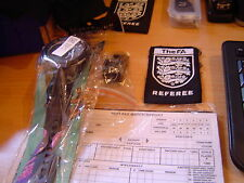 Referee Pack Watch, Fox pro Whistle , Pad Walet with Cards +  Used FA  badge