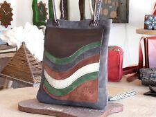 BORSA spalla donna vera pelle cuoio fatta a mano. Artigianale Salento !! 1805