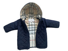Burberry Navy Baby Boy Toddlers Jacket Padded Quilted Coat 12 Months