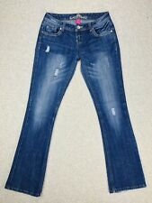 Women's Almost Famous Low-Rise Distressed Boot-Cut Jeans Junior's Size 3