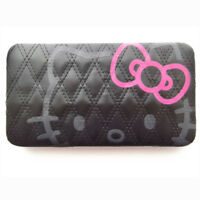 Hello Kitty Long Ladies Wallet - Black quilted detail