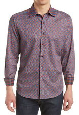 Robert Graham Blue Falkirk Wheel Classic Fit Shirt Size Small