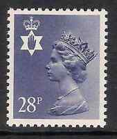 Northern Ireland 1983 NI62 28p litho phosphorised paper perf 14 type I MNH