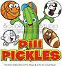 Dill Pickles Sports Concession Fundraiser Food Truck Vinyl Sticker Menu Decal