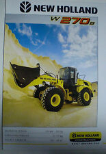 NEW HOLLAND W270B BAGGER PROSPEKT SALES BROCHURE ENGLISCH