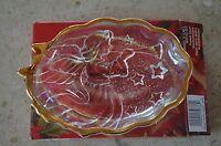 Home Beautiful Christmas Bowl Glass, Candy Dish, Trinket Tray, Jewelry Holder