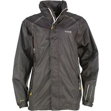 "REGATTA MENS WATERPROOF RAIN JACKET COAT BLACK/ASH  POLARIS  SIZE S 36-39""  NEW"
