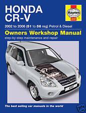 Haynes Honda CR-V CRV 02-06 Petrol Diesel Manual 4747