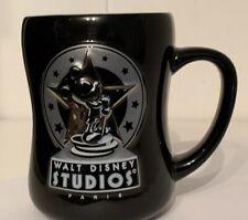 Collectible Mickey Mouse Walt Disney Studios Paris Coffe Cup Mug - Black