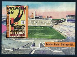 Grenada - Football Soccer Chicago World Cup Stamp Sheet (1994)