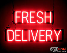 SpellBrite Ultra-Bright FRESH DELIVERY Sign Neon look LED performance