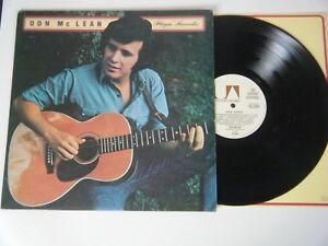 DON McLEAN PLAYIN' FAVORITES VINYL LP UNITED ARTISTS UK 1973