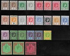 More details for leeward islands 1938-51 kg vi set printings/shades hm/hr to £1 high cv.