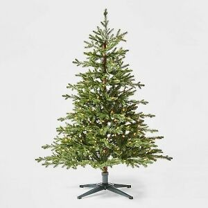 4.5ft Pre-Lit Balsam Fir Artificial Tree Clear Lights - Wondershop