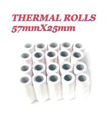 Thermal Rolls 57X25mm Verifone Ingenico Casio Nurit Dione And More QTY: 20 ROLLS