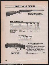 1996 BROWNING BL-22 Lever Action Grade VI Rimfire Rifle AD