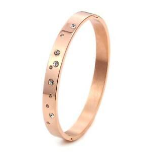 Armband Armreif für Damen Edelstahl Damenschmuck Rosegold mit Strassteinen 2020