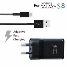 Samsung Original Genuine EP-TA20HBE Black Type-C Fast Charger for Galaxy S8 Plus