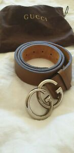 Gucci Women's Brown Leather Belt size 34 excellent condition comes in dustbag